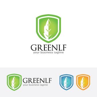 緑の葉金融のロゴテンプレート