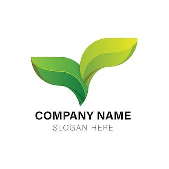 Green leaf healthy logo Premium Vector