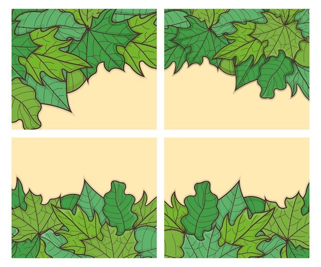 Зеленый лист веб-баннер