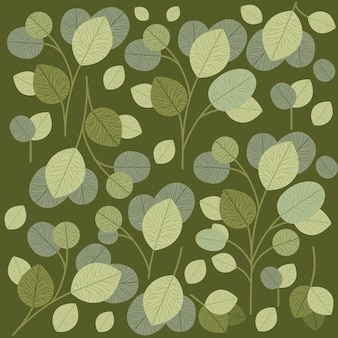 Green leafs pattern background