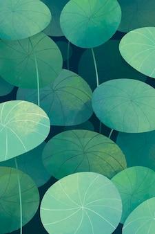 緑の葉のペニーワースの背景