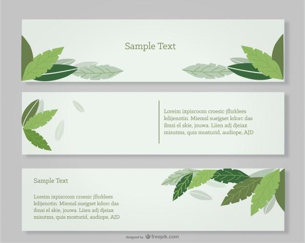 Зеленые листья баннеры сценография