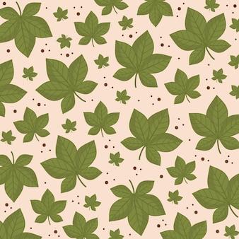 Зеленые листья листва природа ботаническое украшение шаблон иллюстрации