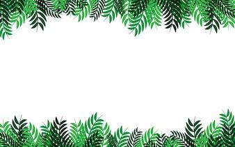 緑の葉のフレームベクトル抽象的な自然の背景のデザイン