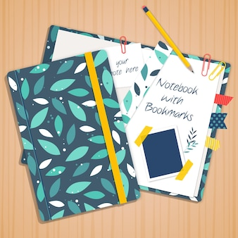Foglie verdi notebook