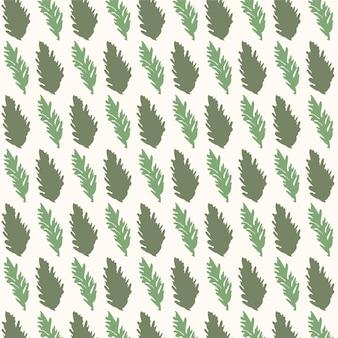 Зеленые листья бесшовные модели с векторной иллюстрацией в винтажном стиле акварели