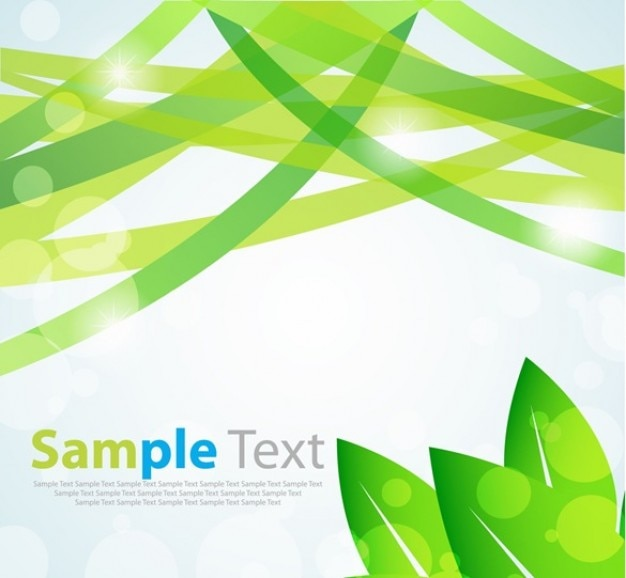 Green leaves with text vector art