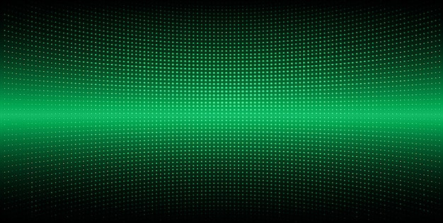 Green led cinema screen for movie presentation