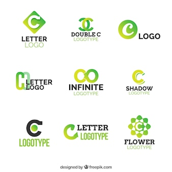 Green letter c logo colection