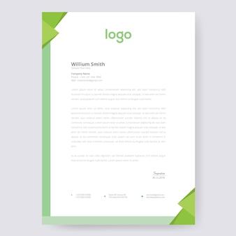 Green letterhead