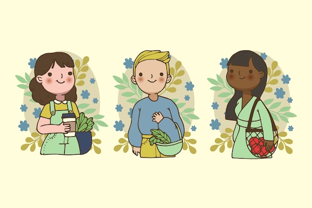Green lifestyle people concept