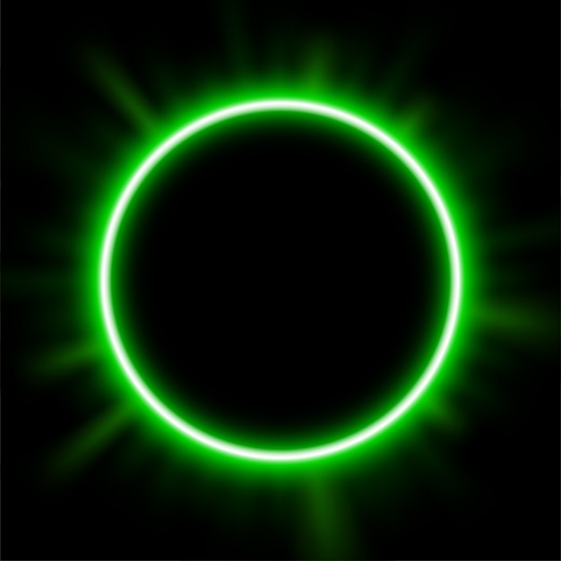 The green light behind the eclipse