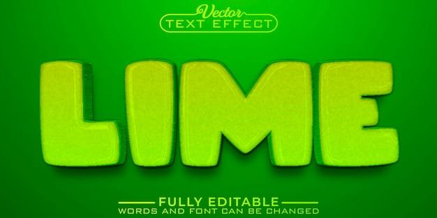 Green lime cartoon editable text effect template