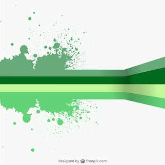 Green lines and paint splashes background