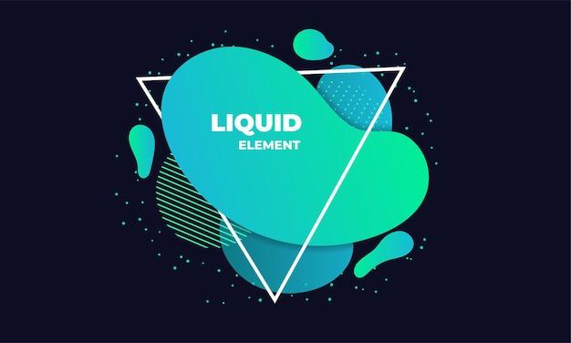 緑の液体の抽象的な要素の図
