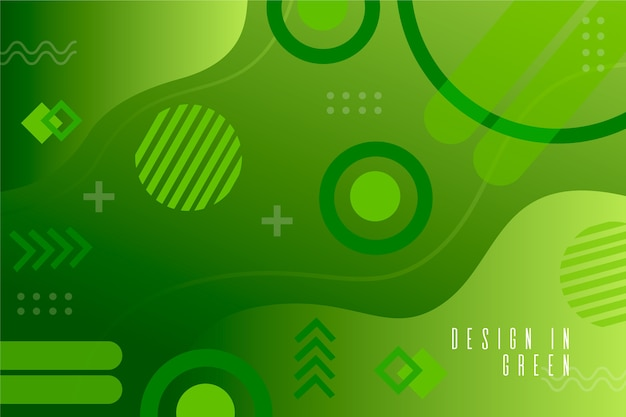 Green liquid effect on geometric background