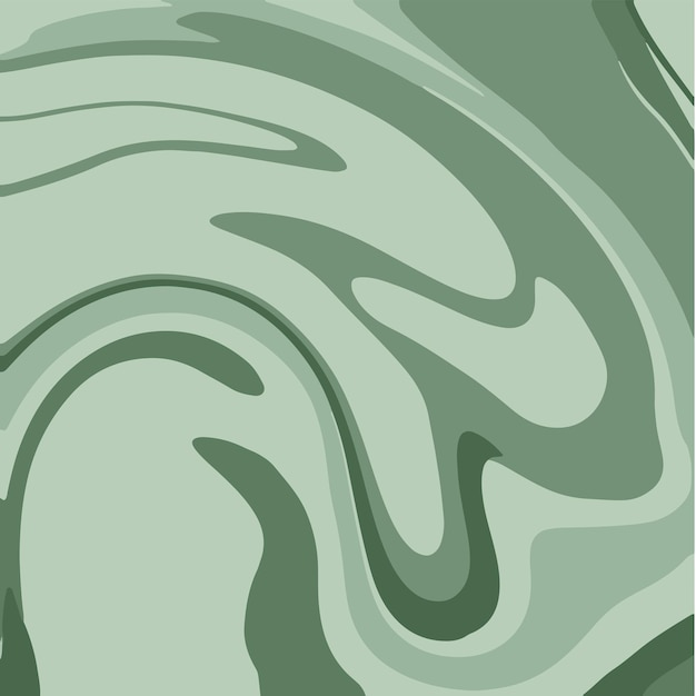Green liquid marble texture ink painting abstract background pattern vector illustrations