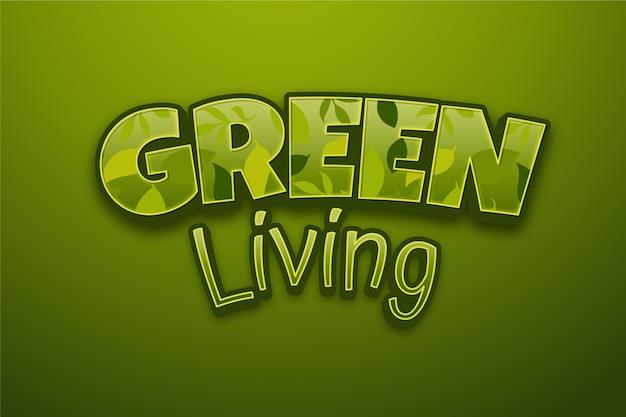 Design effetto testo vivente verde