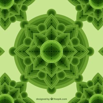 Green mandala abstract background
