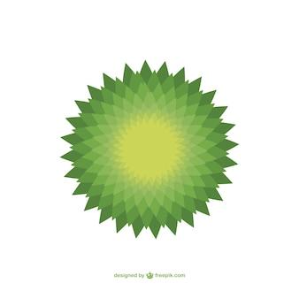 Green mandala vector