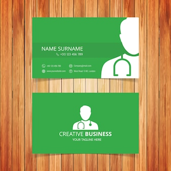 Green medical business card