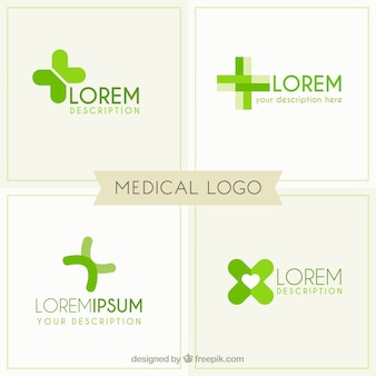 Green medical logo templates