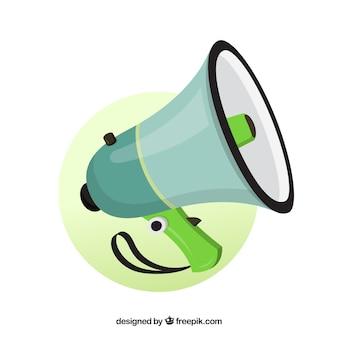 Green megaphone