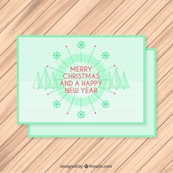 Зеленый счастливого рождества карты