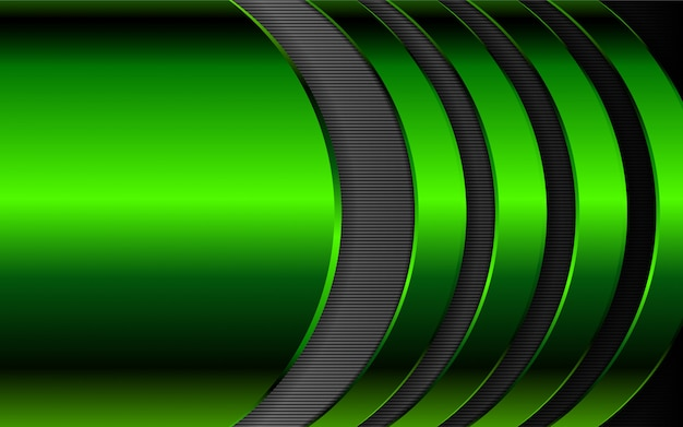 Green metal shapes background