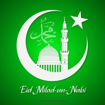 Green milad un nabi card