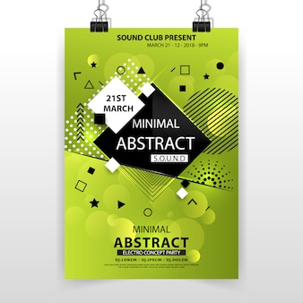 Green minimal abstract poster