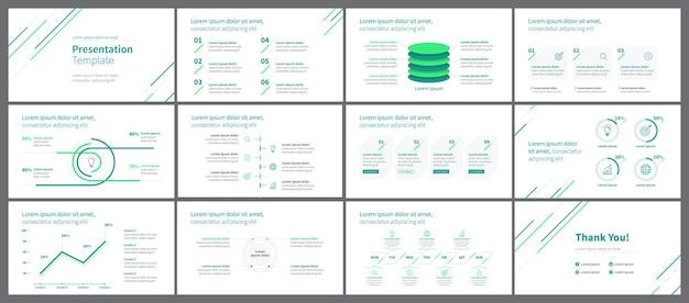 Зеленый минималистский шаблон бизнес-презентации