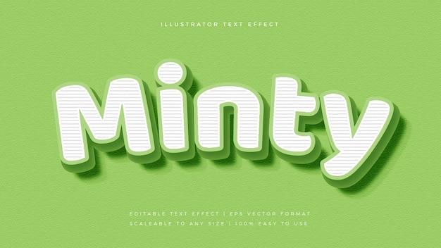 Эффект шрифта в стиле зеленого мятно-полосатого текста