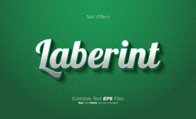 Зеленый современный 3d текстовый эффект