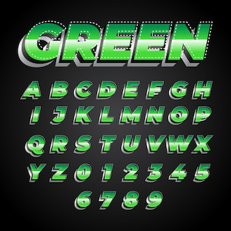 Green modern and bold font effect