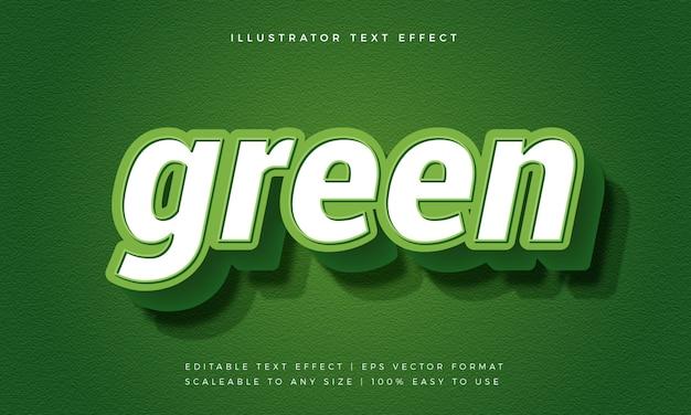 緑のモダンな大胆なテキストスタイルのフォント効果