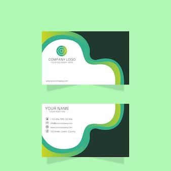 Green modern business card design
