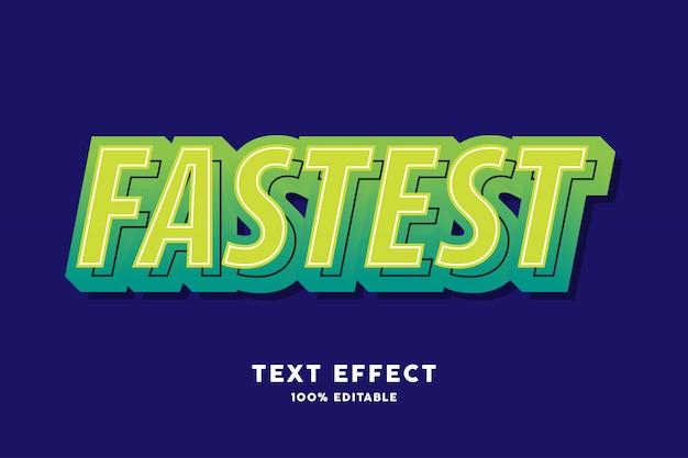 Green modern pop art style text effect