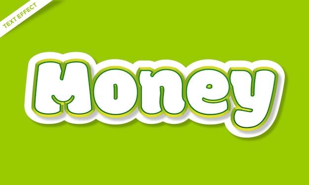Green money text effect design