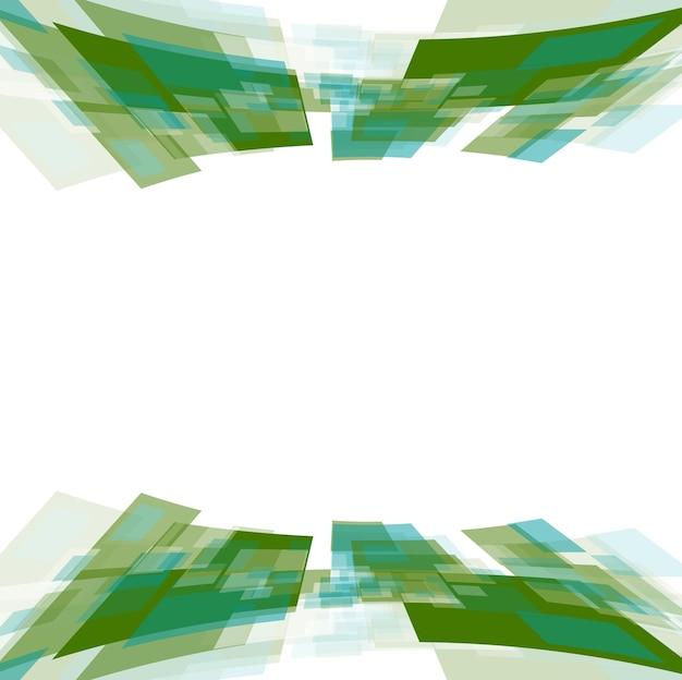 Зеленые квадраты движения на белом. векторная иллюстрация технического дизайна