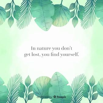 Зеленая природа фон с цитатой