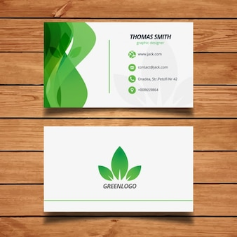 Green Nature Business Card Design