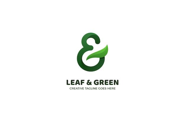 緑の自然ビジネスロゴテンプレート