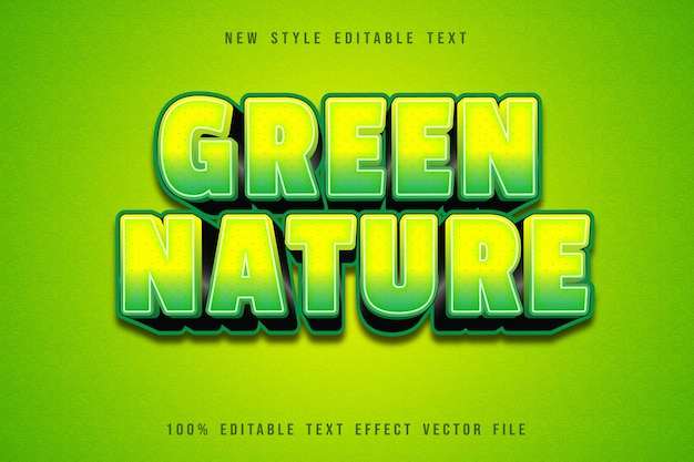 Green nature editable text effect
