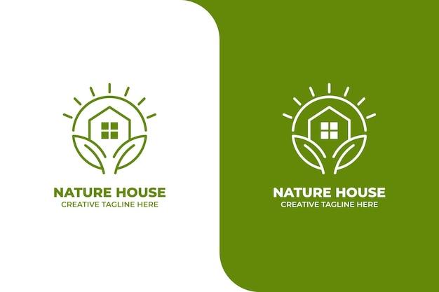 緑の自然観葉植物モノラインロゴ