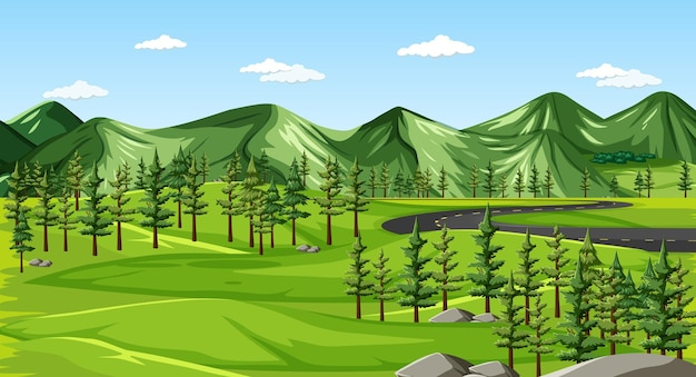 Uno sfondo di paesaggio naturale verde