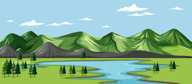 Un paesaggio naturale verde