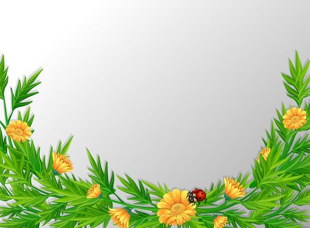 A green nature leaf border