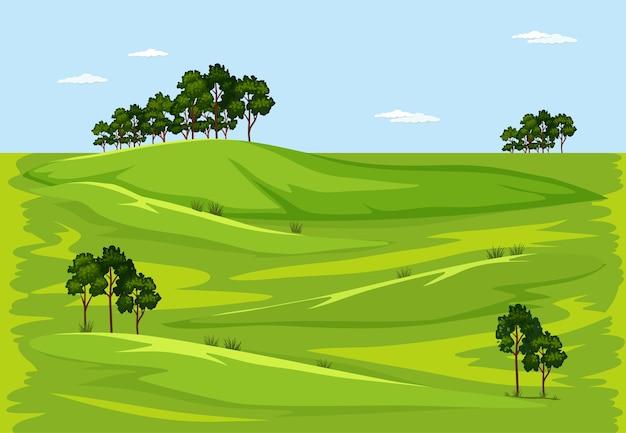 緑の自然の屋外の風景