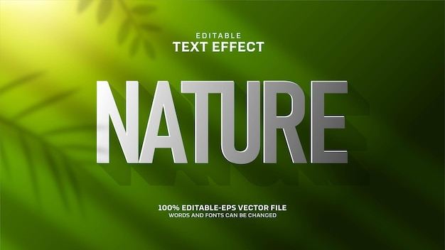 Green nature text effect